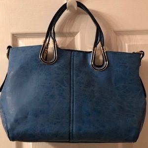 Beautiful Blue Leather Purse